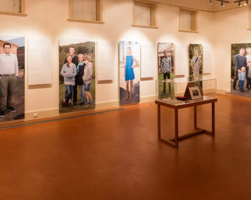 Image: Gallery with large photos of people