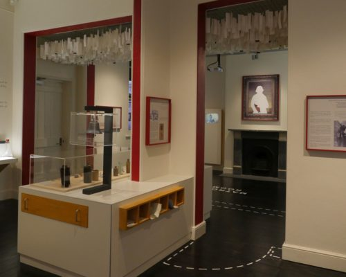 Image: Gallery space showing science instruments and portrait