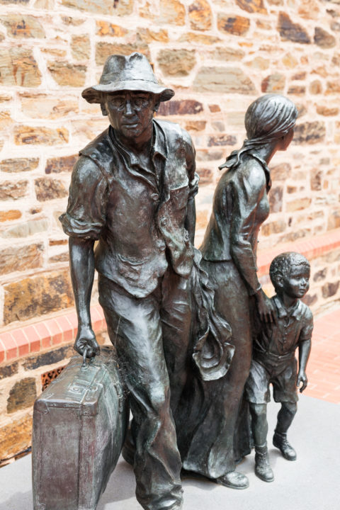 Image of the Migration Museum Foundation's The Immigrants. Photo: Andre Castellucci