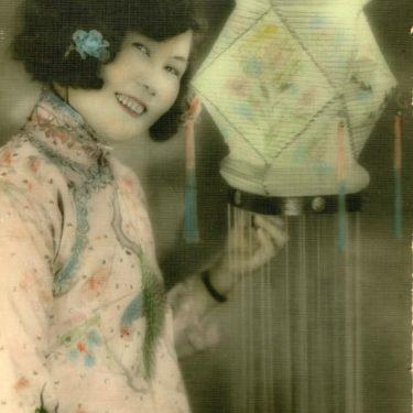 Gladys promoting the new Regent Arcade branch