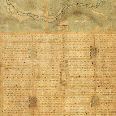detail, Light's Plan, setting out the settlement of Adelaide, 1837